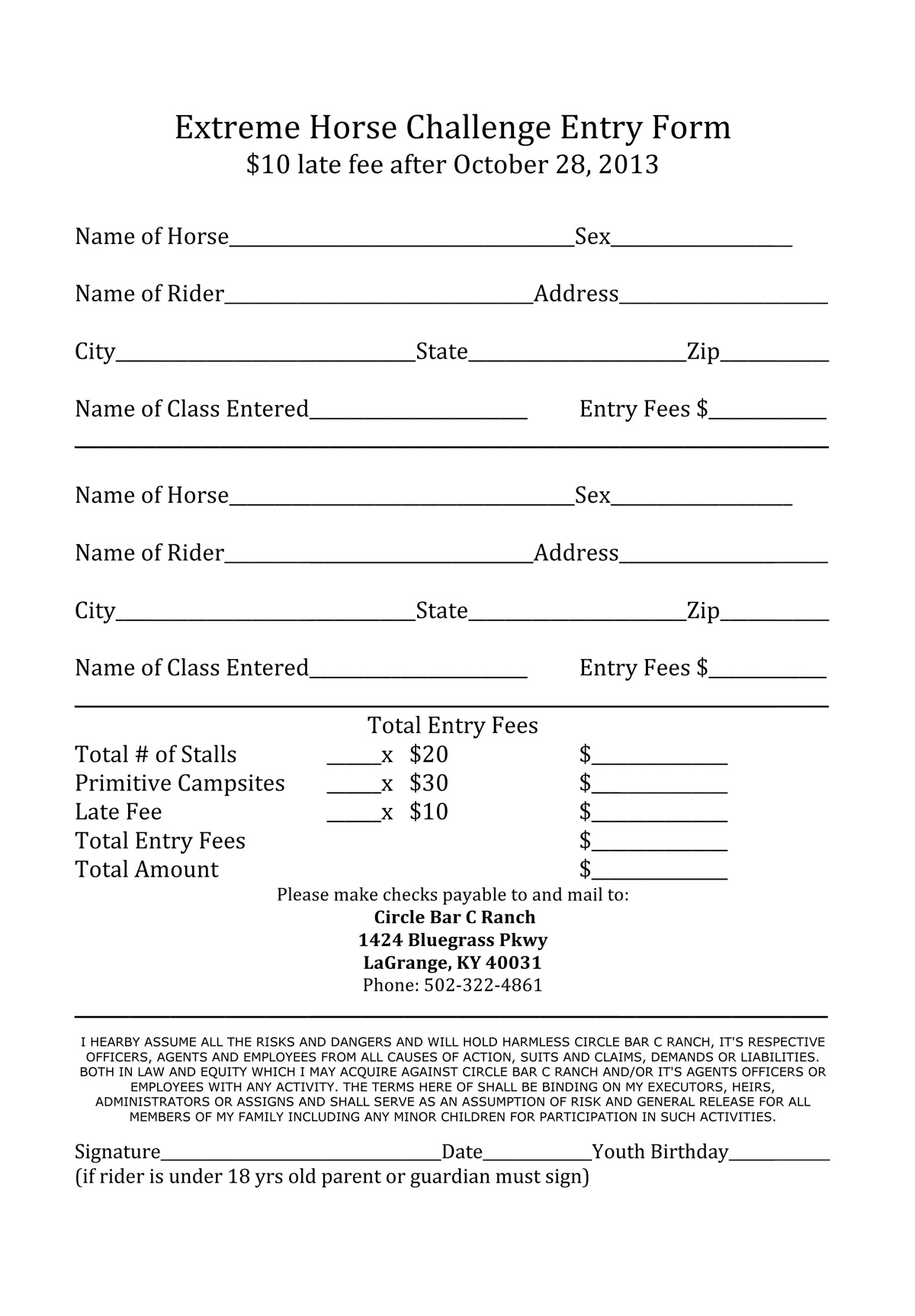 printable sign up forms